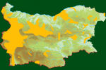 Distribution map of Corncrake/Crex crex