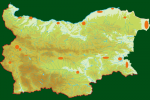 Distribution map of Little Crake/Porzana parva